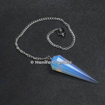 Opalite 12 Faceted Plain Pendulum