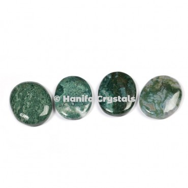 Moss Agate Palm Stones