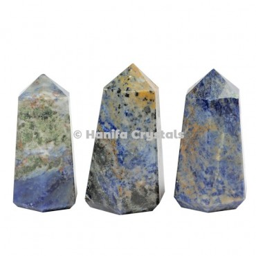 Sodalite Pencil Point Obelisk