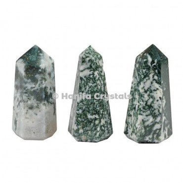 Tree Agate Pencil Point Obelisk