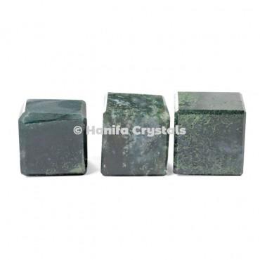 Moss Agate Cube