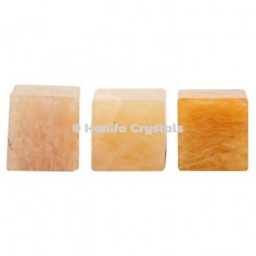 Golden Quartz Cube