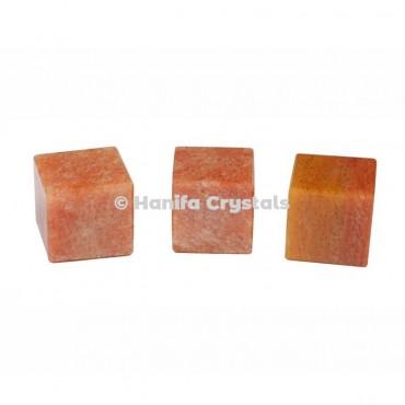 Peach Aventurine Cube