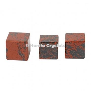 Mahagony Obsidian Cube
