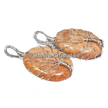 Tree Of Life Sunstone Pendants