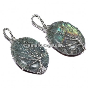 Tree Of Life Labradorite Pendants
