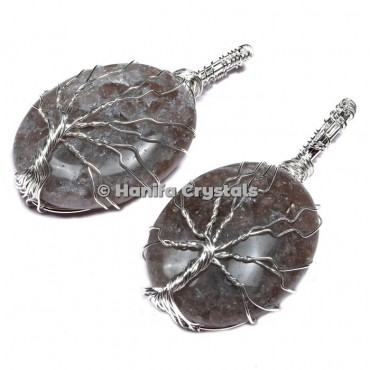 Smokey Quartz Tree of Life Pendants
