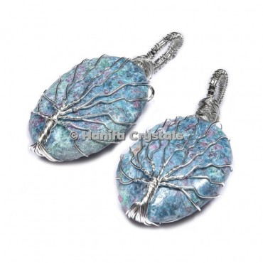 Tree Of Life Ruby Zoisite Pendants
