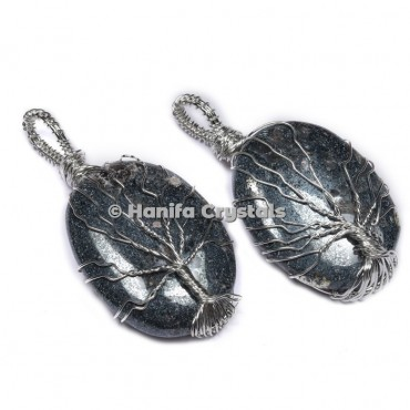 Tree Of Life Hematite Pendants