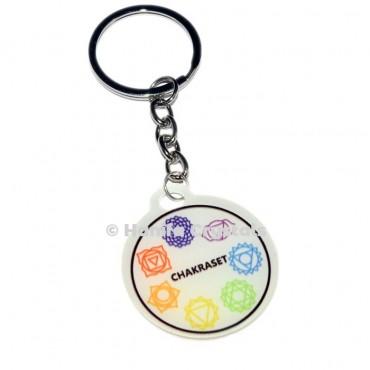 7 Chakra Acrylic Keychain