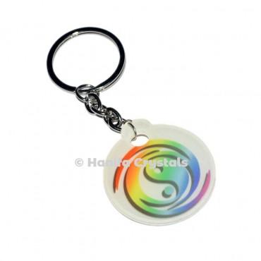 Ying Yang Acrylic Keychain