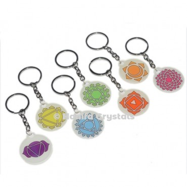 7 Chakra Acrylic Keychain set