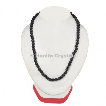 Black Lava Beads Necklace