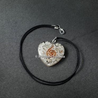 Howlite Healing Crystals Orgonite Pendant