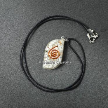 Howlite Third Eye Healing Crystals Orgonite Pendant