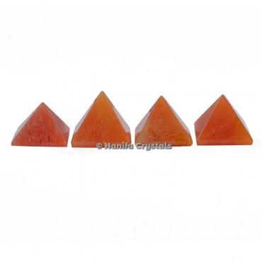 Peach Aventurine Gemstone Pyramids