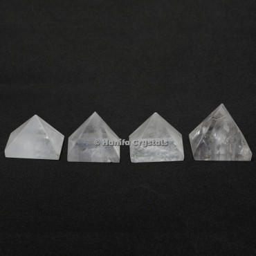 Crystal Quartz Gemstone Pyramids