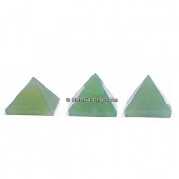 Green Aventurine Gemstone Pyramids