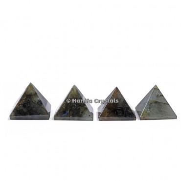 Labradorite Gemstone Pyramids