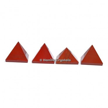 Red Jasper Gemstone Pyramids