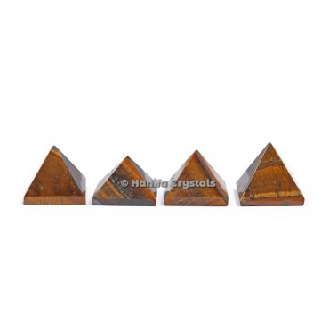 Tiger Eye Gemstone Pyramids