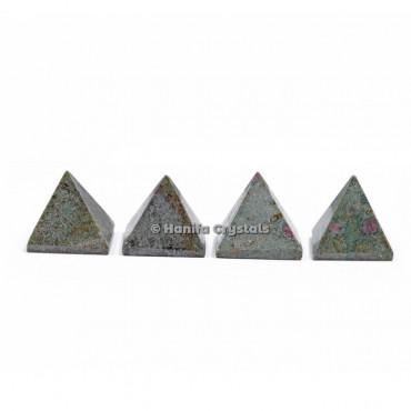 Ruby Zoisite Gemstone Pyramids