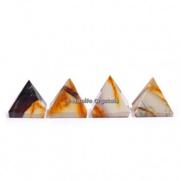 Fancy Agate Gemstone Pyramids