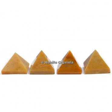 Yellow Jasper Gemstone Pyramids