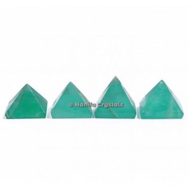 Green Fluorite Gemstone Pyramids