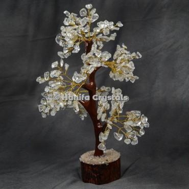 crystal quartz Mseal 300 Chips Gemstone Golden wire  Tree