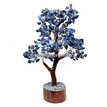 Lapis Lazuli Mseal 300 Chips Gemstone  Silver Wire Tree