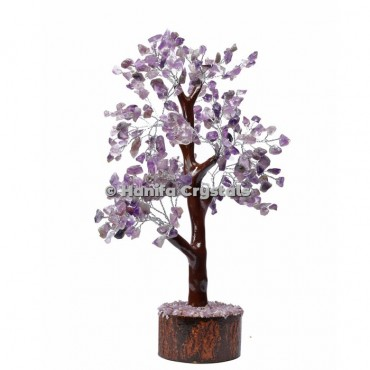 Amethyst Mseal 300 Chips Gemstone  Silver Wire Tree