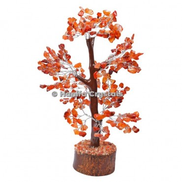 Carnelian Mseal 300 Chips Gemstone  Silver Wire Tree