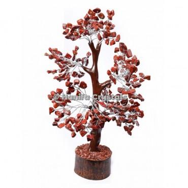 Red Jasper Mseal 300 Chips Gemstone  Silver Wire Tree