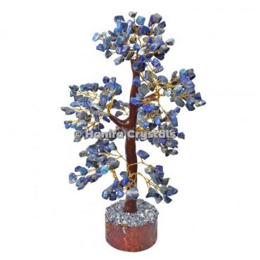 Lapis Lazuli Mseal 300 Chips Gemstone  Golden Wire Tree