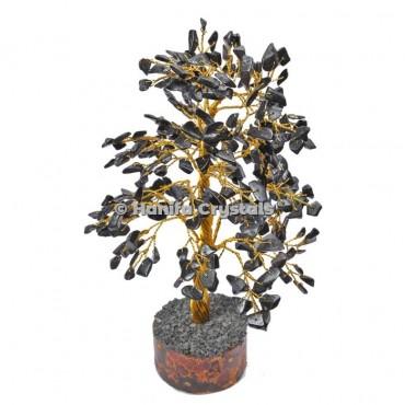 Black Jasper 300 Chips Gemstone golden wire tree