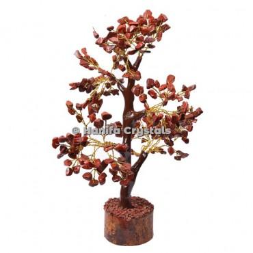 Red Jasper Mseal 300 Chips Gemstone  Golden Wire Tree