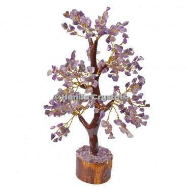 Amethyst Mseal 300 Chips Gemstone  Golden Wire Tree