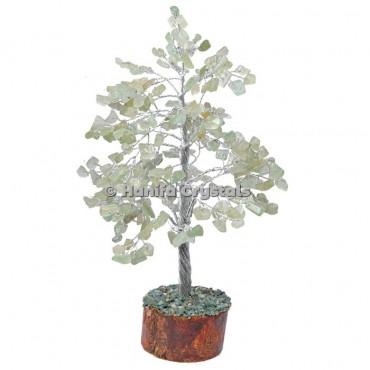 Green Aventurine 300 Chips Gemstone Silver Wire Tree