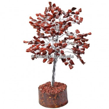 Red Jasper 300 Chips Gemstone Silver Wire Tree