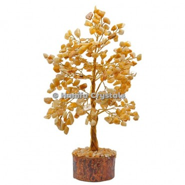 Golden Quartz 300 Chips Gemstone Golden Wire Tree