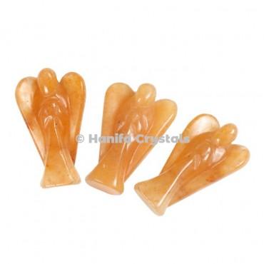 Golden Quartz Gemstone Angels