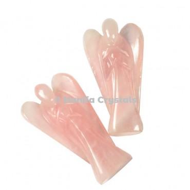 Rose Quartz Gemstone Angels