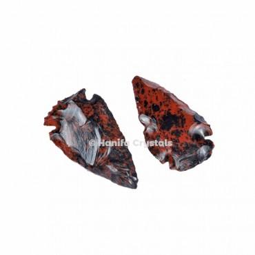 Mahagony Jasper Indian Arrowheads