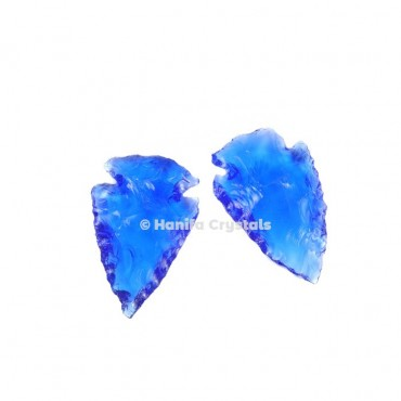 Blue Glass Indian Arrowheads