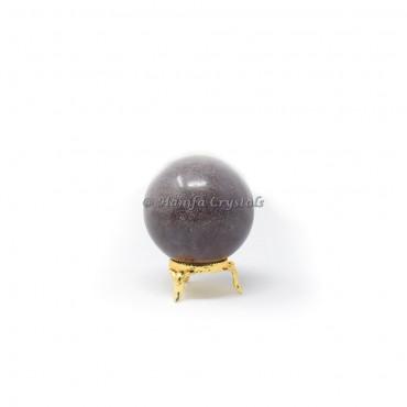 Blue Aventurine Sphere With Brass Stand