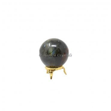 Labradorite Sphere With Brass Stand
