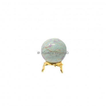 Ruby Zeocite Sphere With Brass Stand