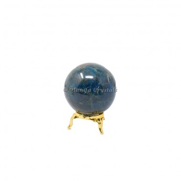 Apatite Sphere With Brass Stand