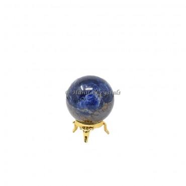 Dark Apatite Sphere With Brass Stand